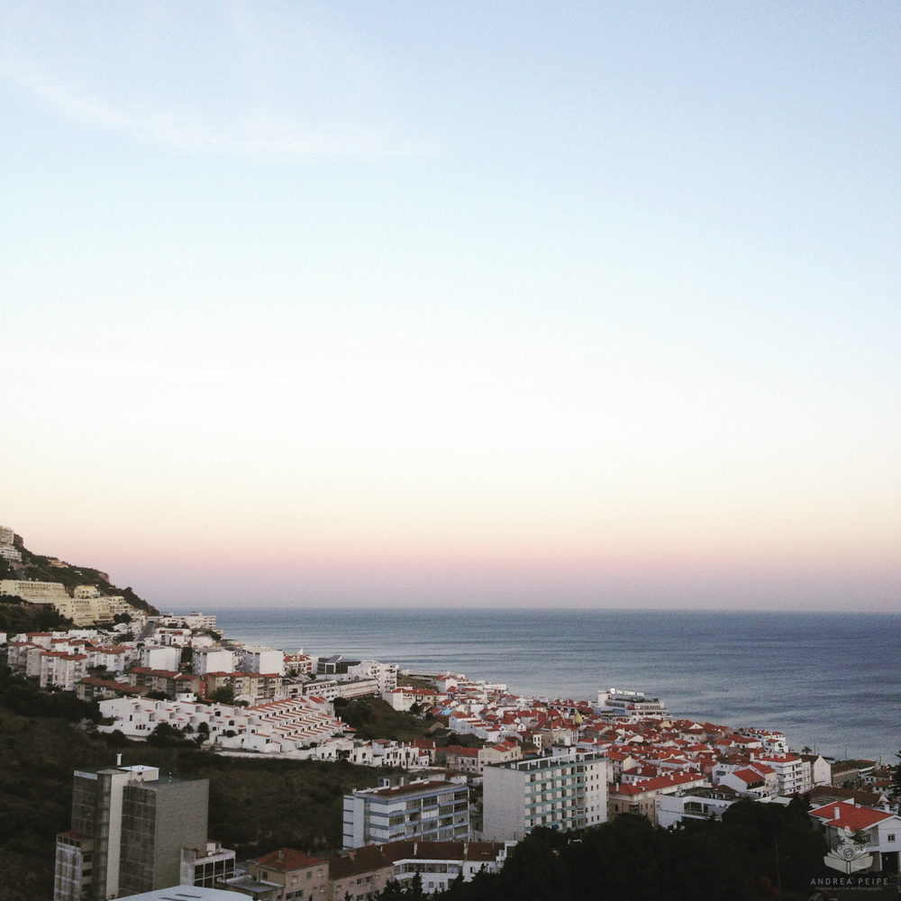 The view from our flat in Sesimbra