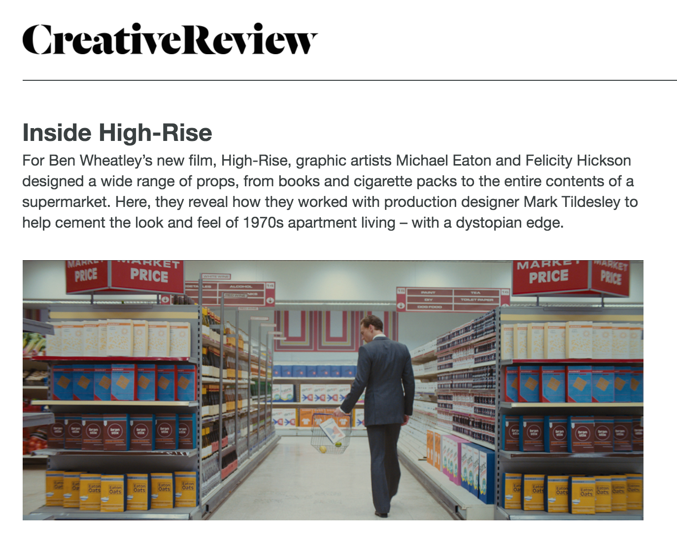 Coverage of the coverage: Creative Review looks at the film and they look right back.