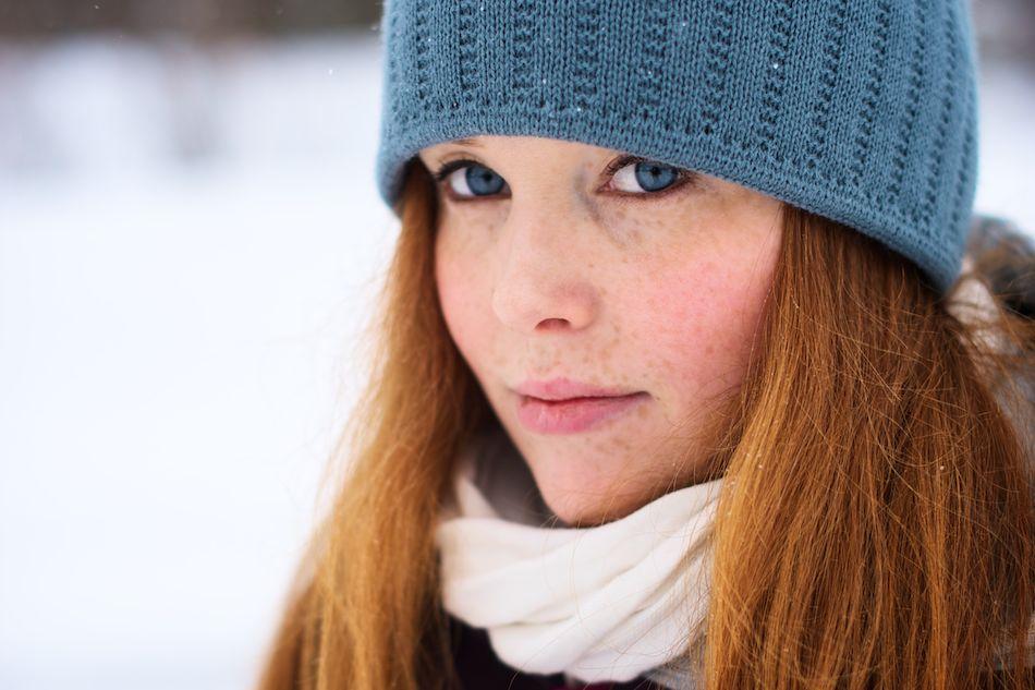 Caroline Åslund i Vinterskrud ©Tobias Björkgren