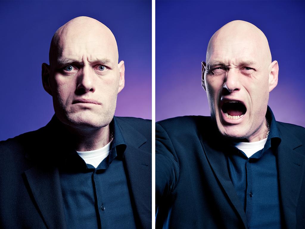 Personligt porträtt på Thomas Gjutarenäfve, reklamskådespelare och statist