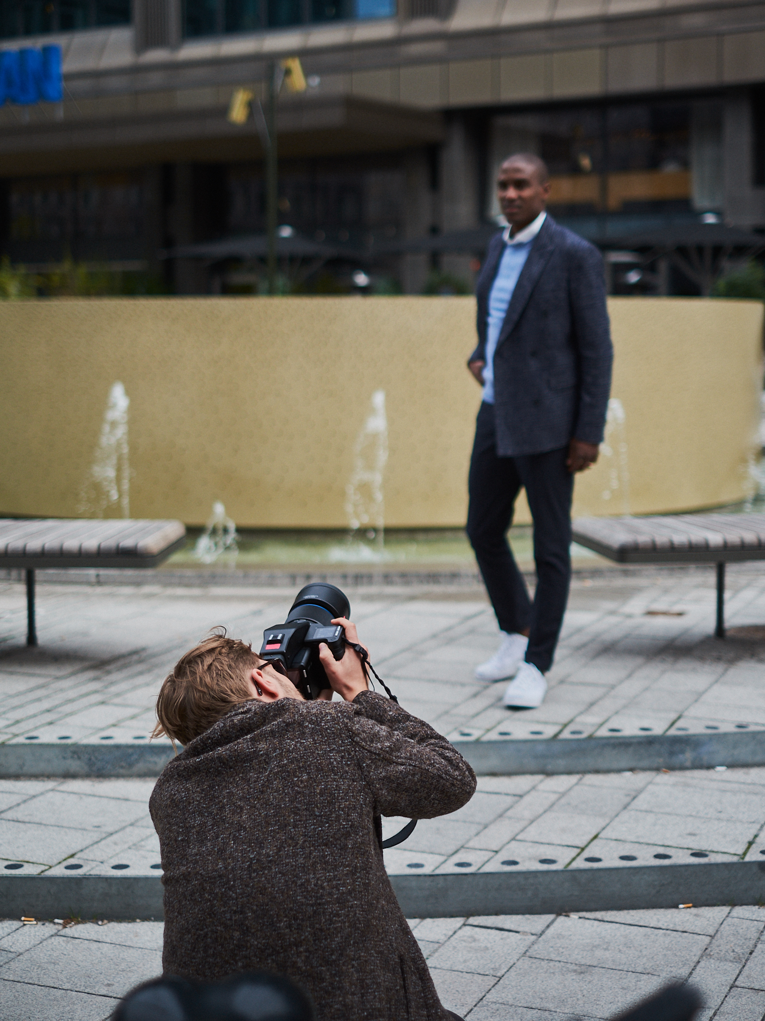 Behind the scenes from Rosewall shoot