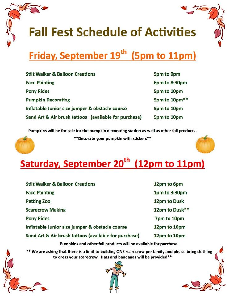 The Elmwood Park Fall Fest is 4 weeks earlier this year with even more fun and entertainment to enjoy.