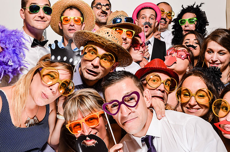 PHOTO BOOTH - We provide the best backdrops for your day allowing guest to have a blast with the best
