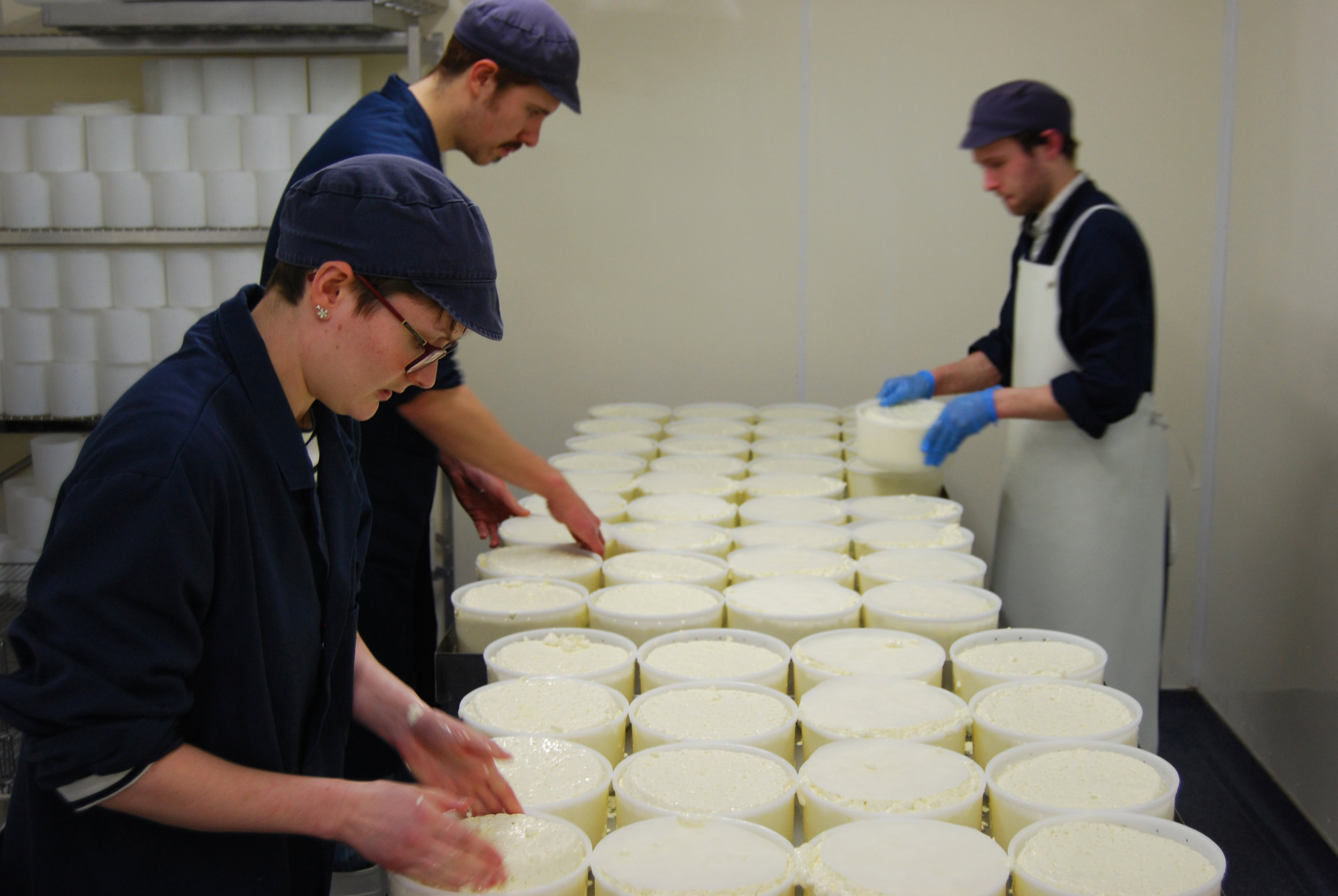 Turning the new cheeses