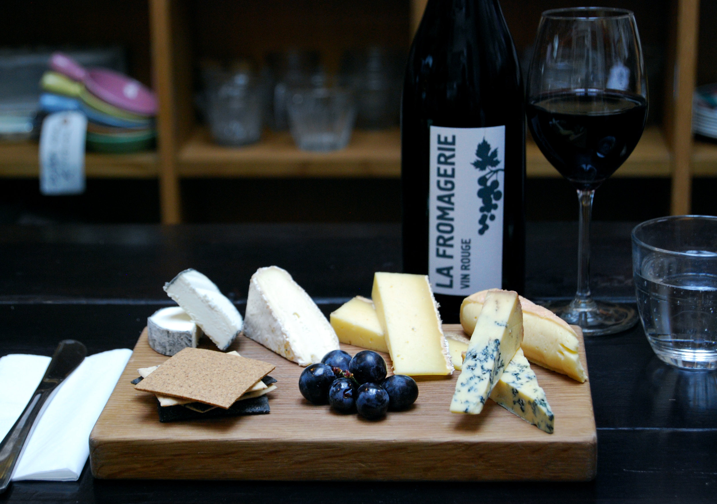 Seated Cheese & Wine