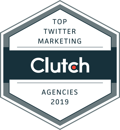 2019 Top Twitter Marketing Agency - Awarded by Clutch