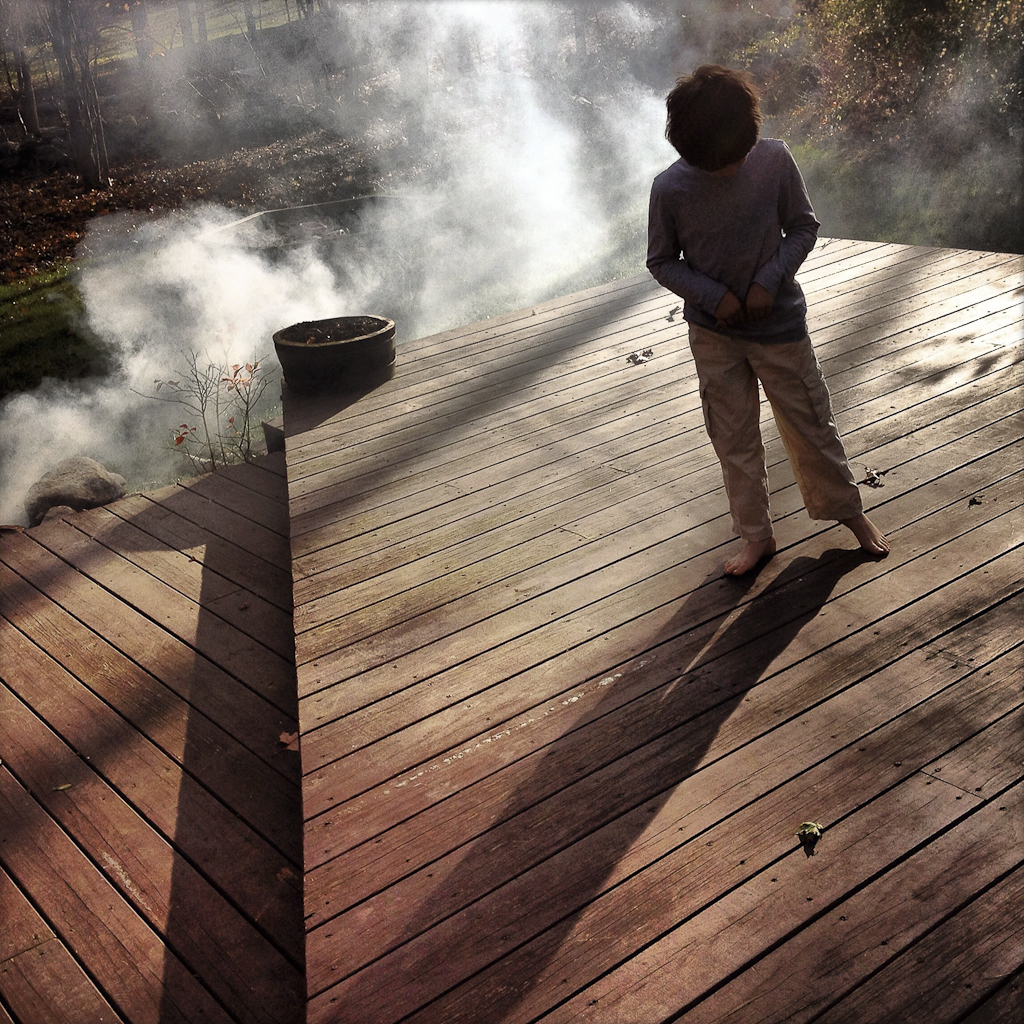 Calvin: On a Cleared Deck with Smoldering Leaves