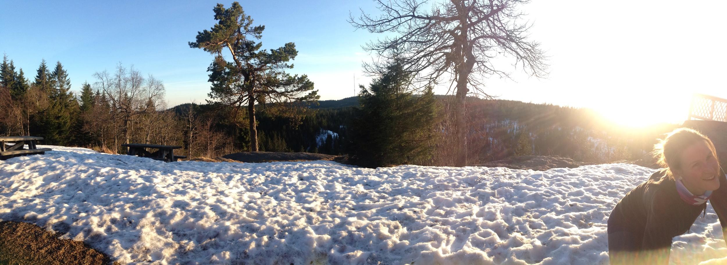 Det ligger noe snø i høyden fremdeles.