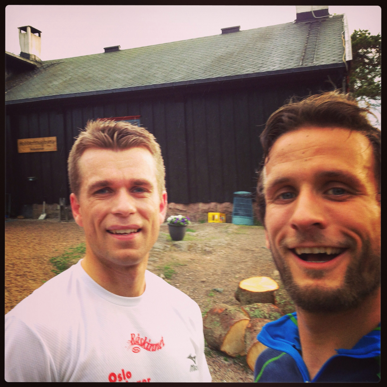 Hytte 1 - Kobberhaugen. Første gang i joggesko faktisk!