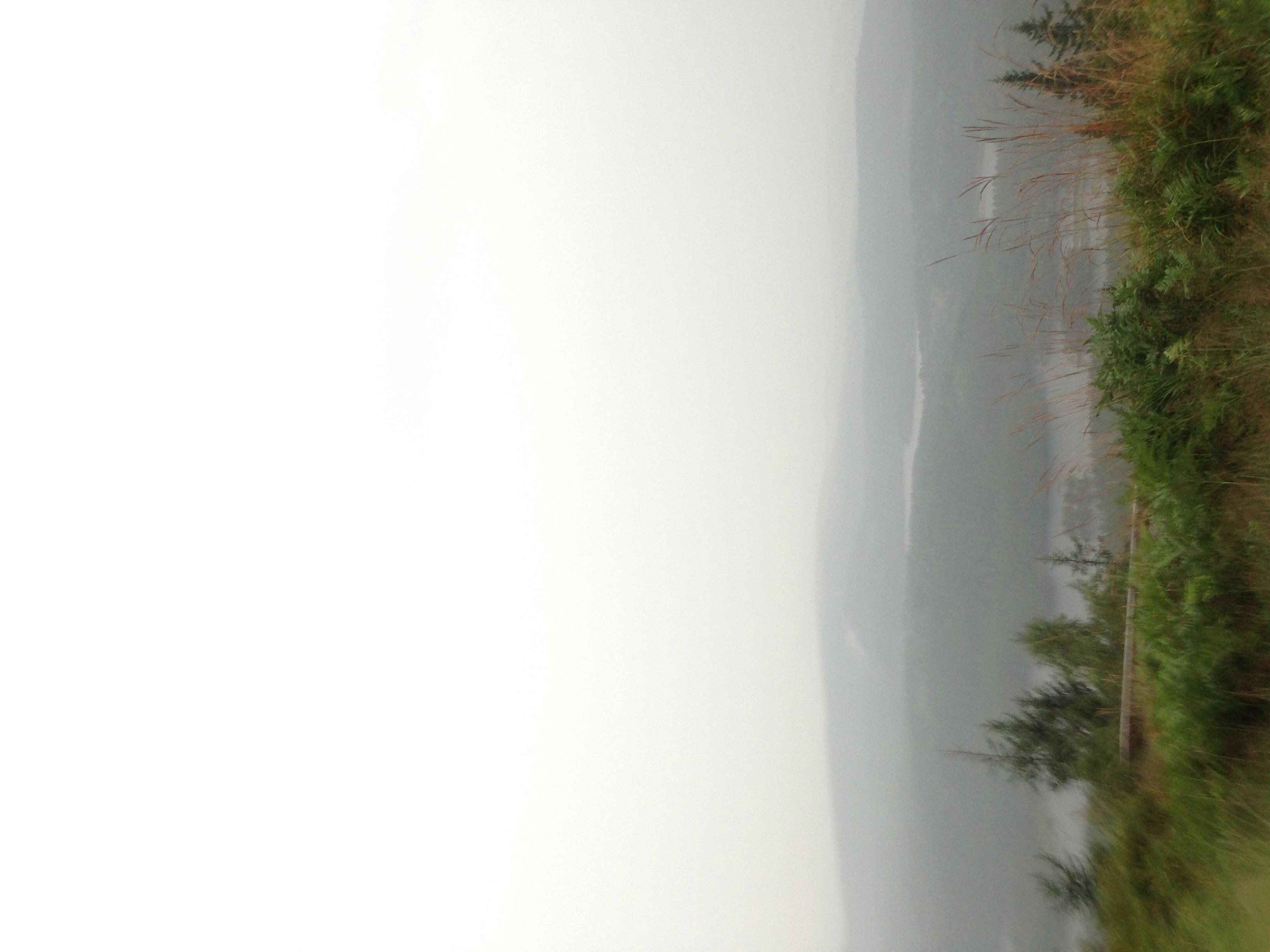 Flott utsikt, dugg på linsen og masse regn.