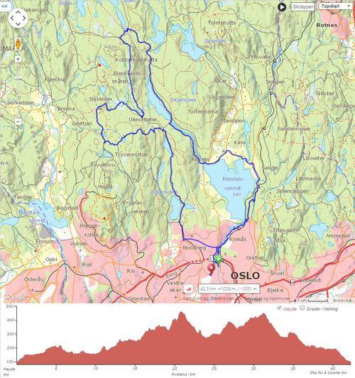 Klikk på bildet for å komme til traséen på  Lommekjent.no