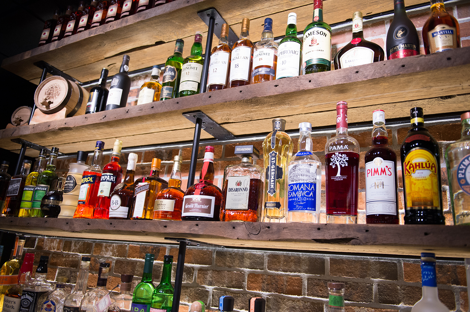 Over 100 liquor selections