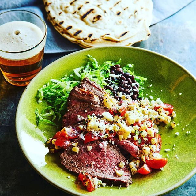 Entree course for the Weber's Greatest Hits cookbook dinner on June 3rd. Grilled Tri-Tip Steak with Corn Salsa! 913.390.0180 #webergrill  #The180Room #kcbbqstore #publicdinner #summertime @jamiepurviance @webergrills @joeskc @kcbbqsociety