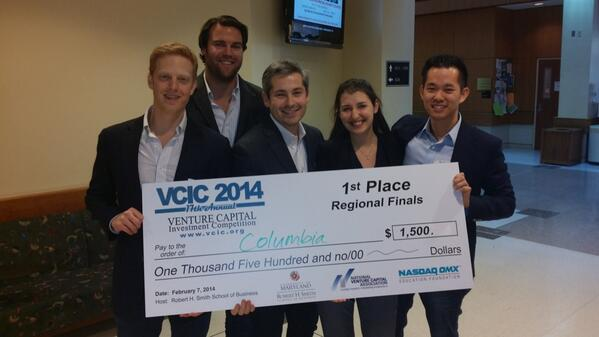 1st place win at 2014 Venture Capital Investment Competition