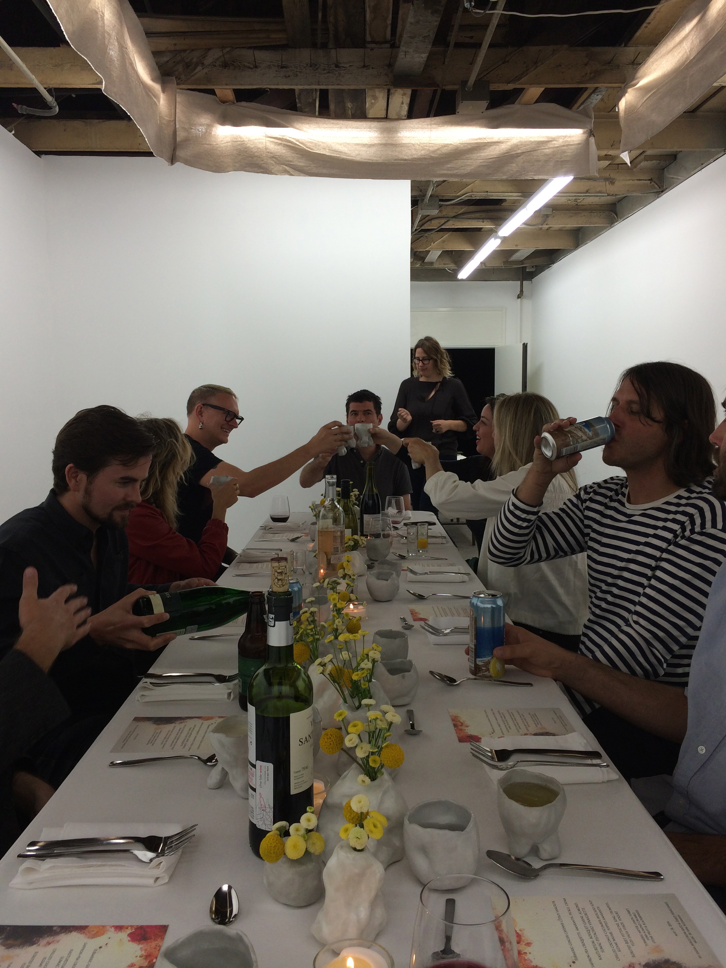 Dinner in the gallery