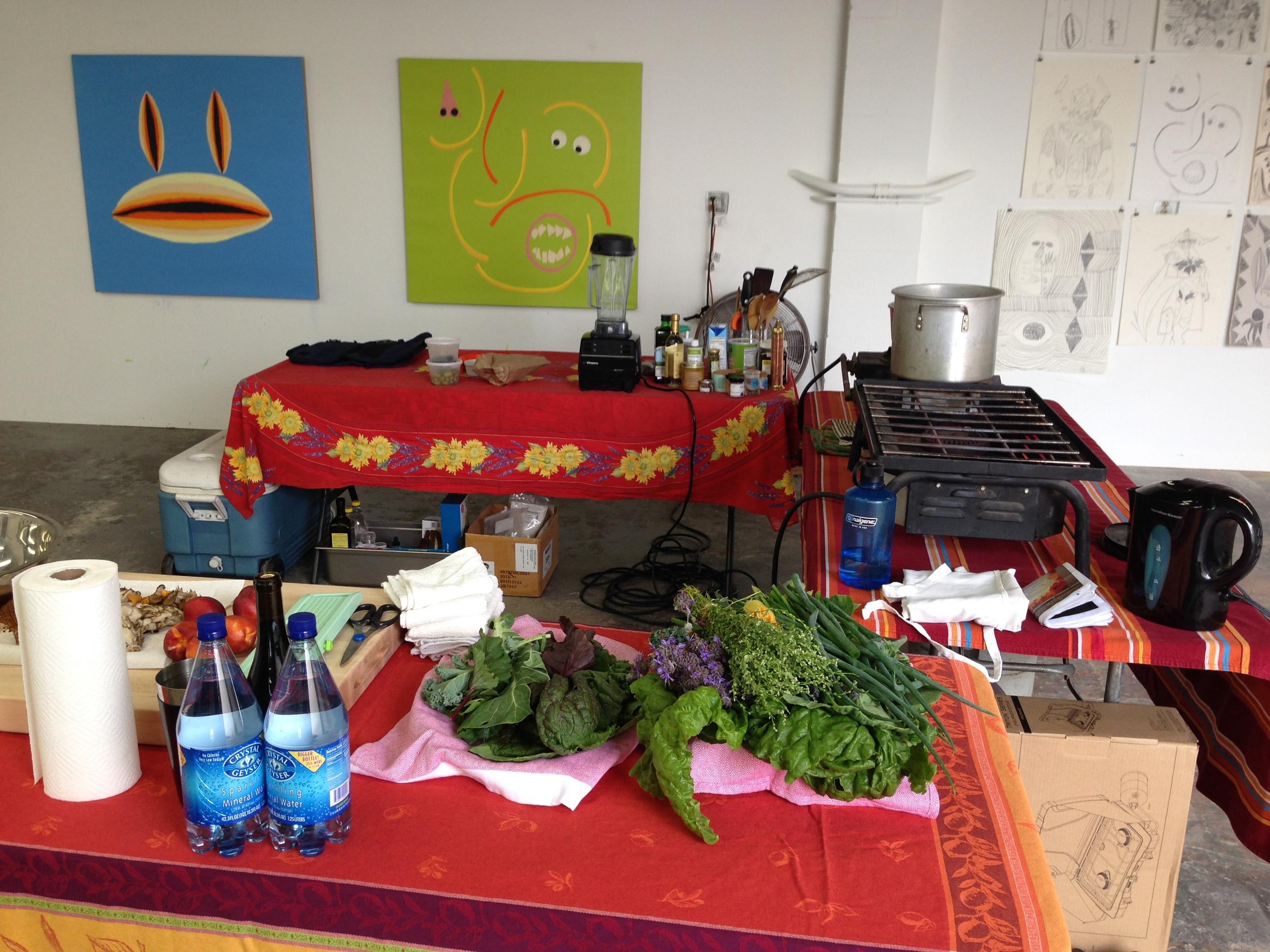Studio Kitchen set up