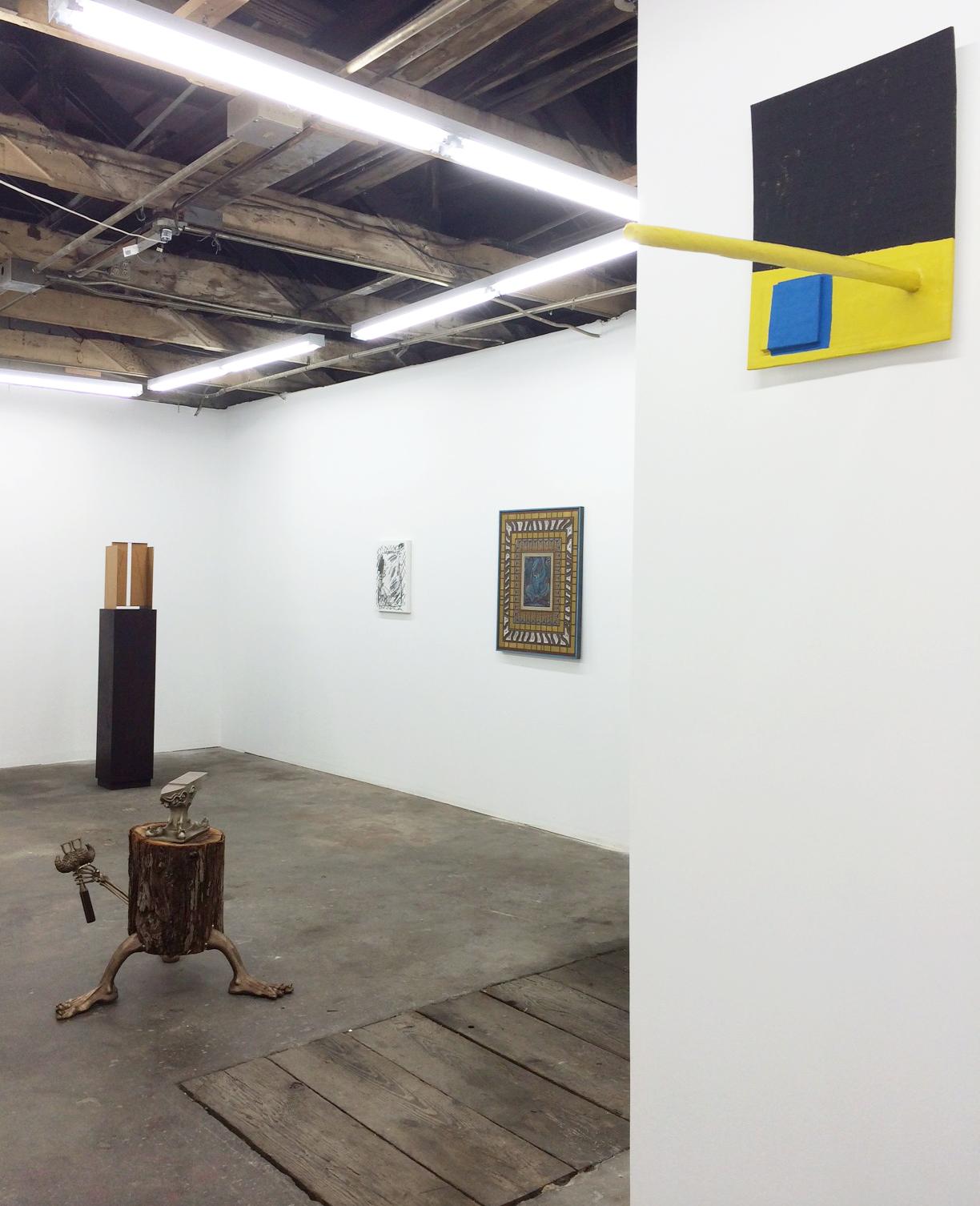 Installation shot Andrew Sexton, Matt Paweski, Laura Owens, Zach Harris and Roy Dowell
