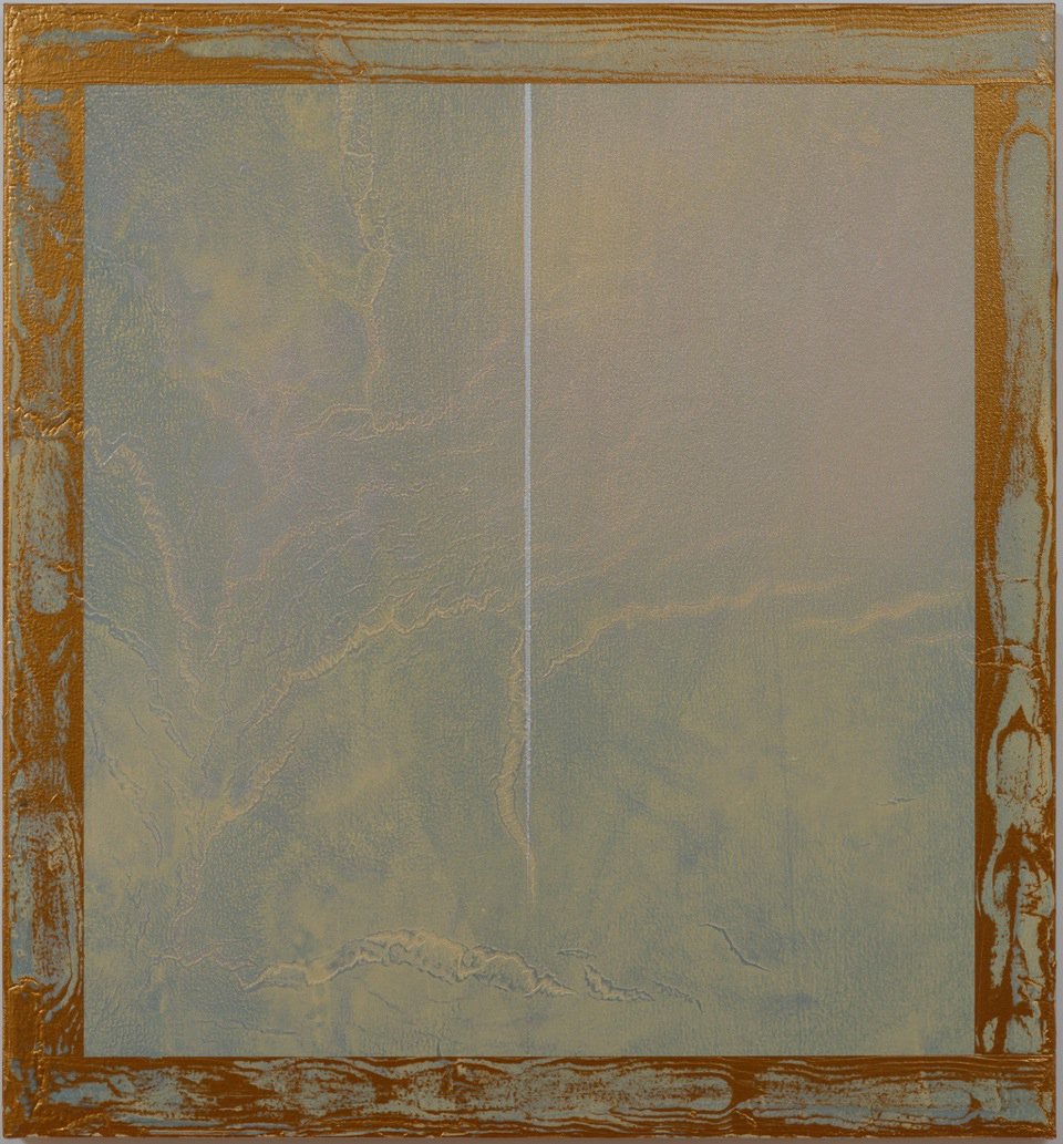"Billy Al Bengston, Japanese Rust"" 2013 acrylic on canvas 28""x26""x1 1/2"""