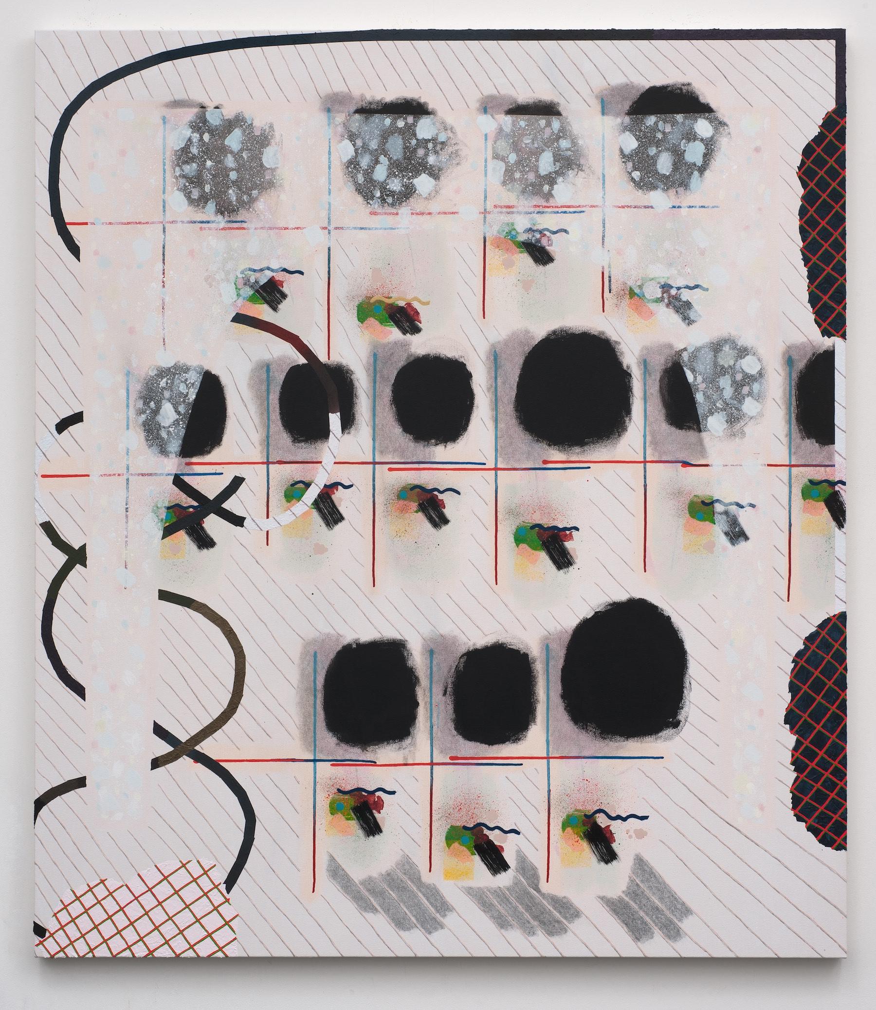 "Allison Miller - Calendar - 2014 - Acrylic, Pencil and Modeling paste on Canvas - 60 x 52.25"""