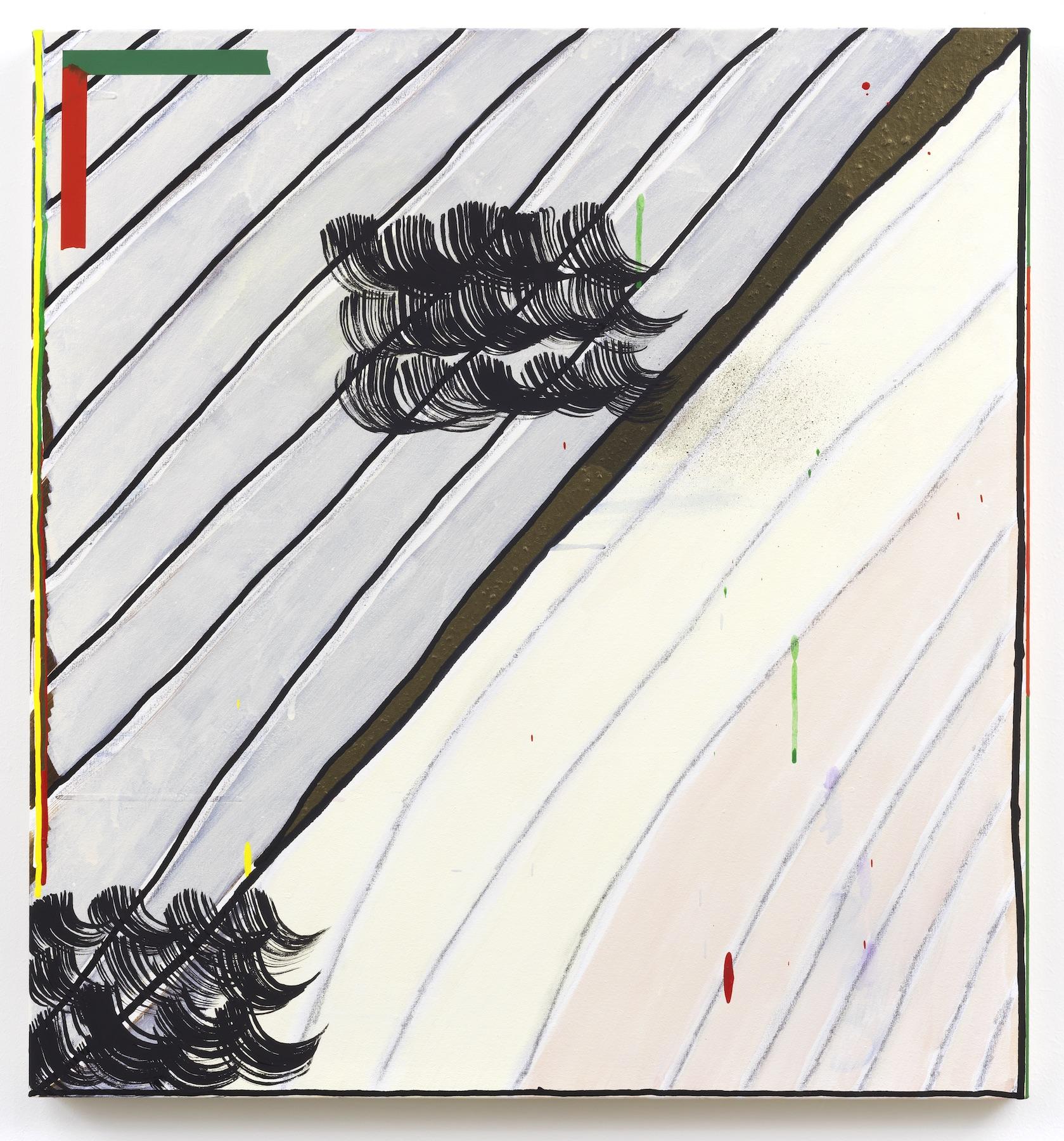 """Allison Miller - Head / Edge - 2014 - Acrylic, Flashe, Pencil on canvas - 30 x 28"""""""