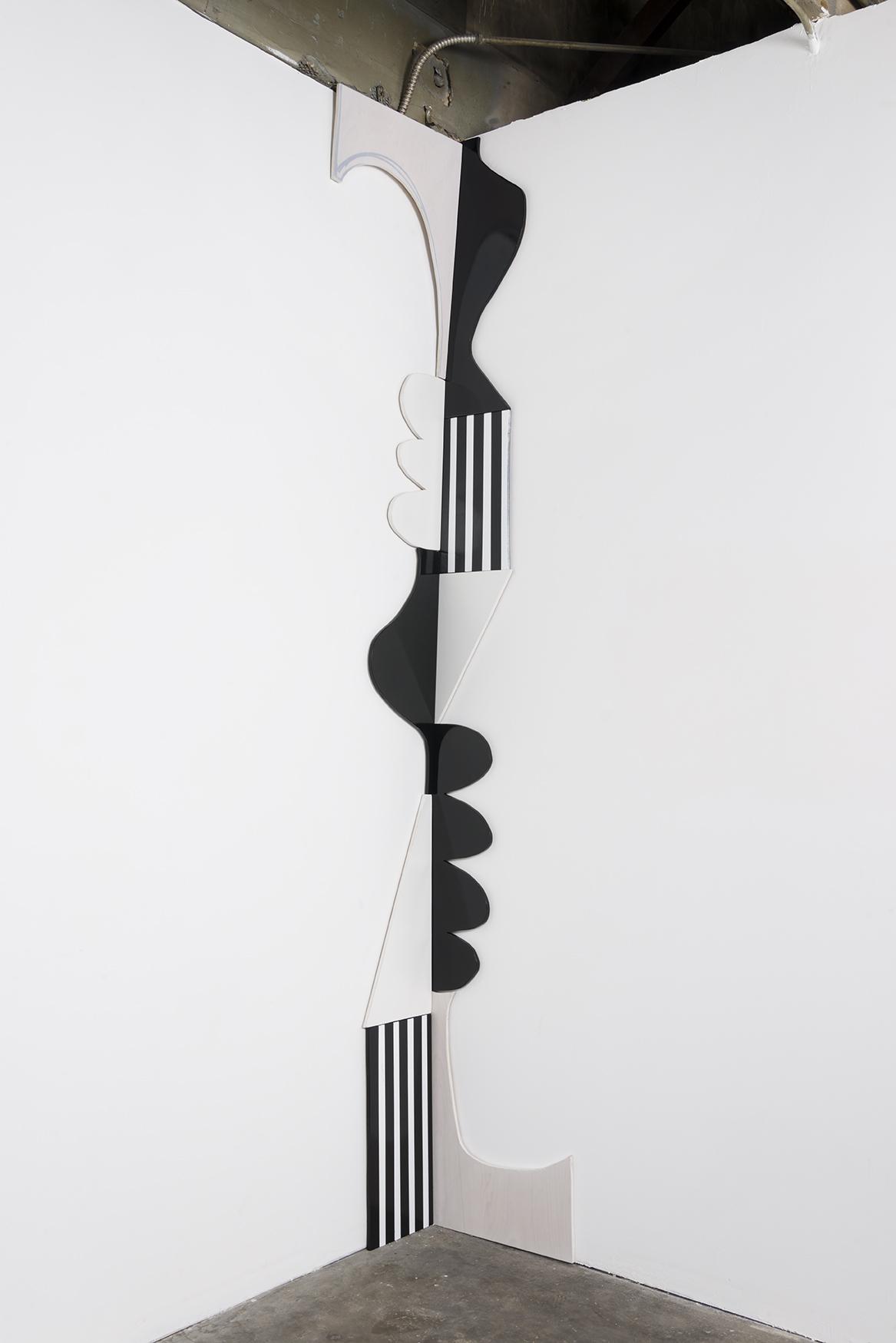 "Nora Shields - Corner Piece 3 (Halfbox) - 2016 - Acrylic, Plywood, Latex Enamel - Lacquer - 118 x 28 x .5"""