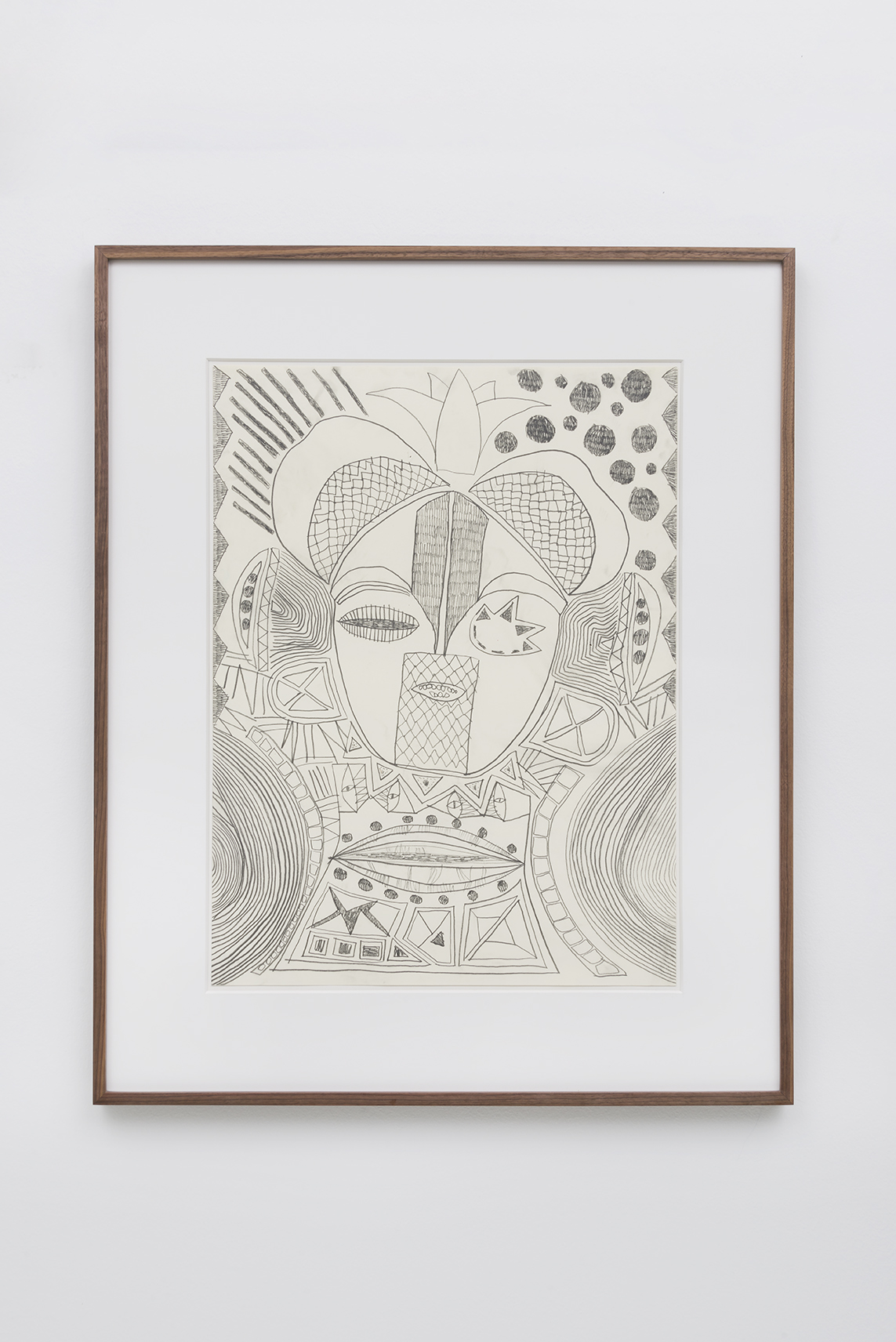 "Adam D. Miller - Neo Cyborg Pscyho scape - 2016 -  Graphite on Paper - 18 x 24"" drawing, 32 1/4 x 26 1/4"" Matted and Framed"