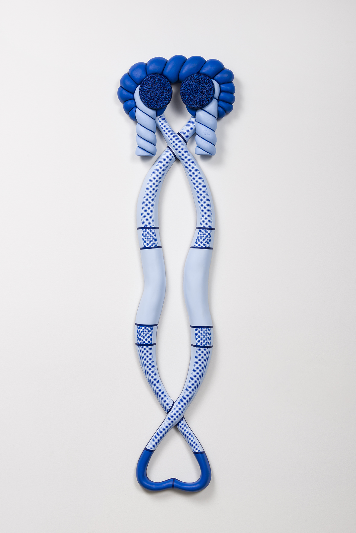 Blue Warp, 2016  Polychromed Urethane  52 x 14 x 3 inches
