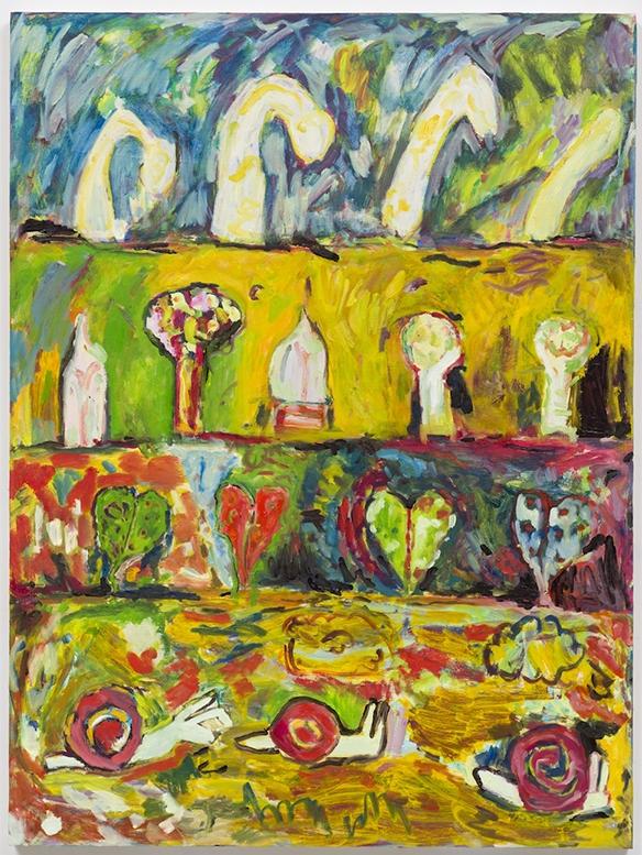 """Tetsumi Kudo Painting, 2016  Oil on panel  40 x 30"""""""