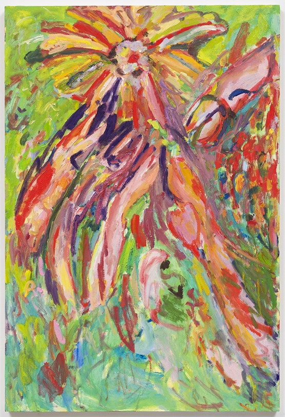 "Underwater Flower, 2016  Oil on panel  34 x 22"""