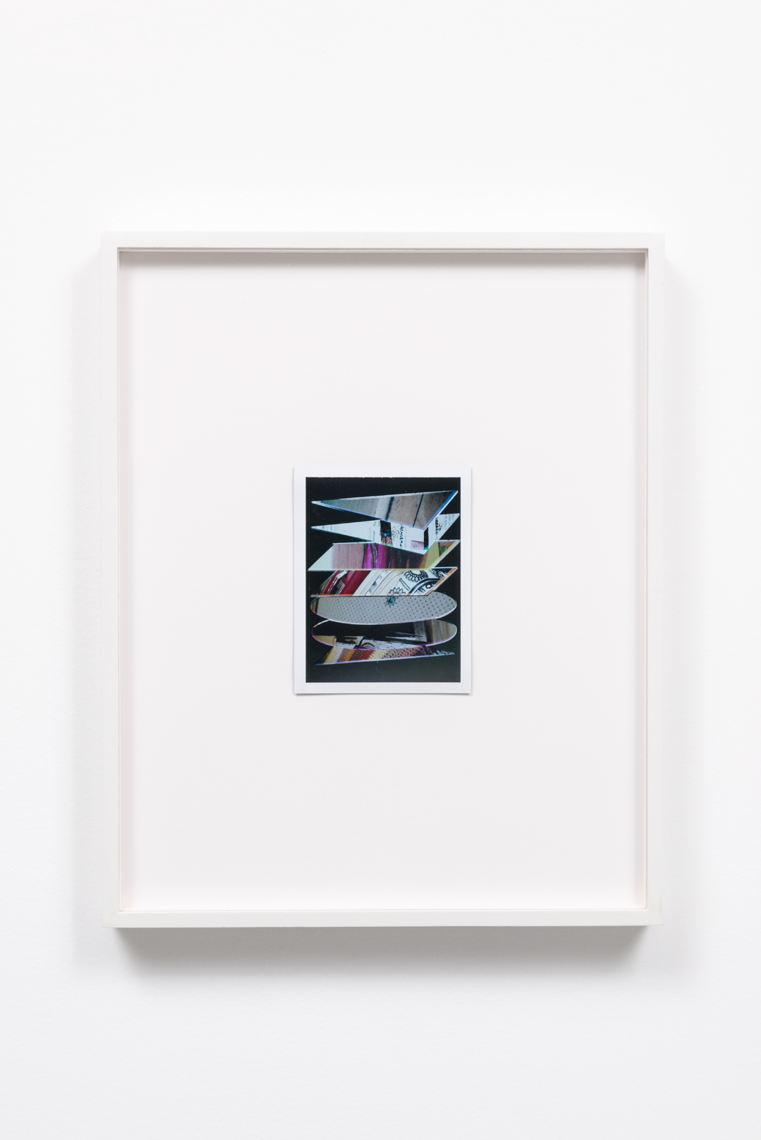 Cory Escoto, Tall Stack, 2014 Fuji color instant film print 5 x 4""