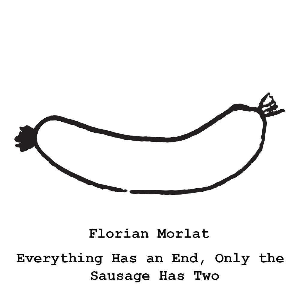 Florian Morlat   Everything has an end, only the sausage has two   May 7 – June 18, 2017  Opening reception Sunday May 7, 4-7pm     The Pit is pleased to announce  Everything has an end, only the sausage has two,  a new solo exhibition by Florian Morlat in The Pit II. For  Everything has an end, only the sausage has two , Morlat has created an environmental installation, utilizing the gallery's unique intimate and narrow features.  Expanding on themes and visual cues from his recent body of cardboard collages depicting caves and domestic architecture, Morlat has created  large-scale, oil enamel painted cardboard collages that operate as a backdrop, creating an environment with a relationship to German Expressionist set designs featured in movies such as The Cabinet of Dr. Caligary or The Golem. Within the environment, a series of new sculptures constructed from soup cans, wood, and plaster are on display.  As in his recent cardboard collages, the series of sculptures make reference to domesticity and sanctuary.  The soup cans create exaggerated chimney-like forms, and the foundation that these twisting forms emerge from resemble bird's nests constructed from pieces of wood, covered in plaster and hay.  The exhibition stays true to Morlat's usual limited use of color; his latest works are primarily dark ashy tones, highlighted by small dashes of neon.  The heavy use of dark tones gives Morlat's installation a ghostly, surreal quality as if the buildings were abandoned or decaying.  This environment of weaving chimneys and rugged, oddly shaped buildings gives the viewer pause to contemplate what the true purpose of architecture at it's most fundamental level is; shelter.  Whether these birdhouses are falling apart or crudely constructed from the beginning, they have as much in common with the primitiveness of cave dwellings as they do with a city, ghost town or anywhere humans would or have occupied.        Florian Morlat (B. 1968, Munich Germany) lives and works in Los Angeles.  He studied at Akademie der Bildenden Kuenste Munich, Kunstakademie Dusseldorf, and received his MFA from UCLA.  He has had solo exhibitions at Cherry and Martin LA, Galerie Ben Kaufmann Berlin, Daniel Hug LA, among others.  His work has been written about in the Los Angeles Times, Modern Painters, and The New York Times among other publications.  This is his first solo exhibition with The Pit.
