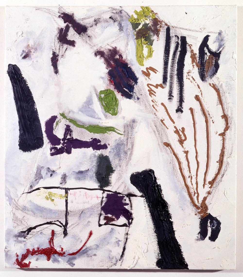 Don Van Vliet, Bad Vaggum, 1990 oil on canvas, 37 x 32.5 inches