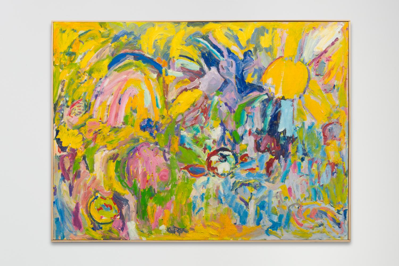 "Farm, 2017  Oil on panel  36 x 44"""