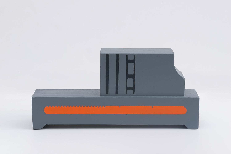 Demonizer Ultra, 2017  Polychromed wood  6.75 x 14.5 x 3 inches