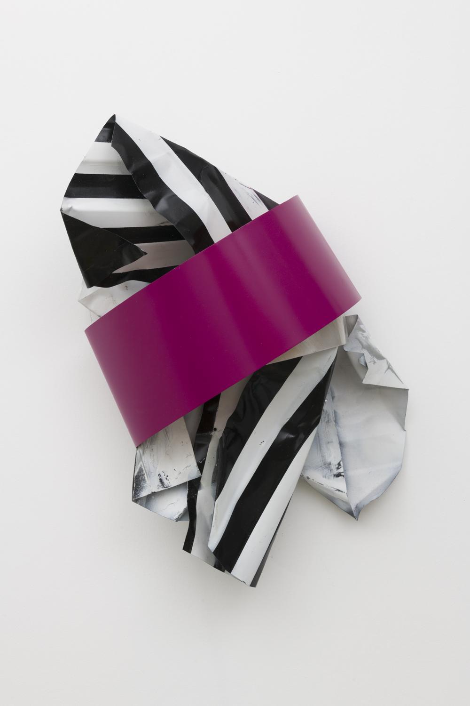 Nora Shields  Sash Painting (Cherry Blossom), 2018  Acrylic on aluminum  23 x 14 x 8 inches