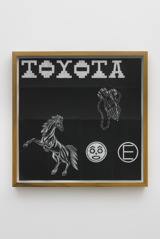 Jaime Muñoz  Code  System , 2018  Scratchboard  23 x 23 inches