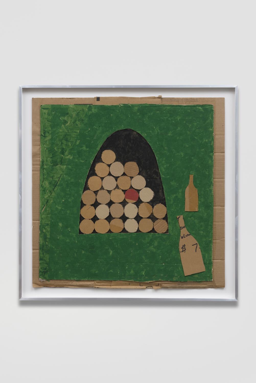 Florian Morlat  Untitled, 2018  Enamel on cardboard  35 x 35 x 2 inches