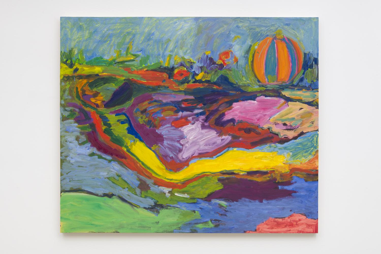 Adrianne Rubenstein    Tunnel , 2018  Oil on panel  47 x 56 inches