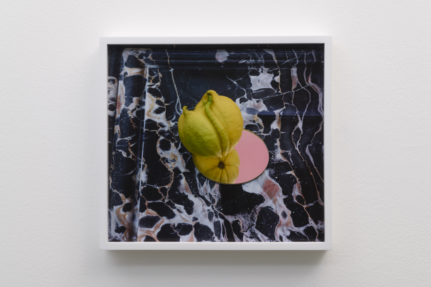 Untitled (Lemon on mirror on marble), 2017  Pigment print  11 x 12 inches