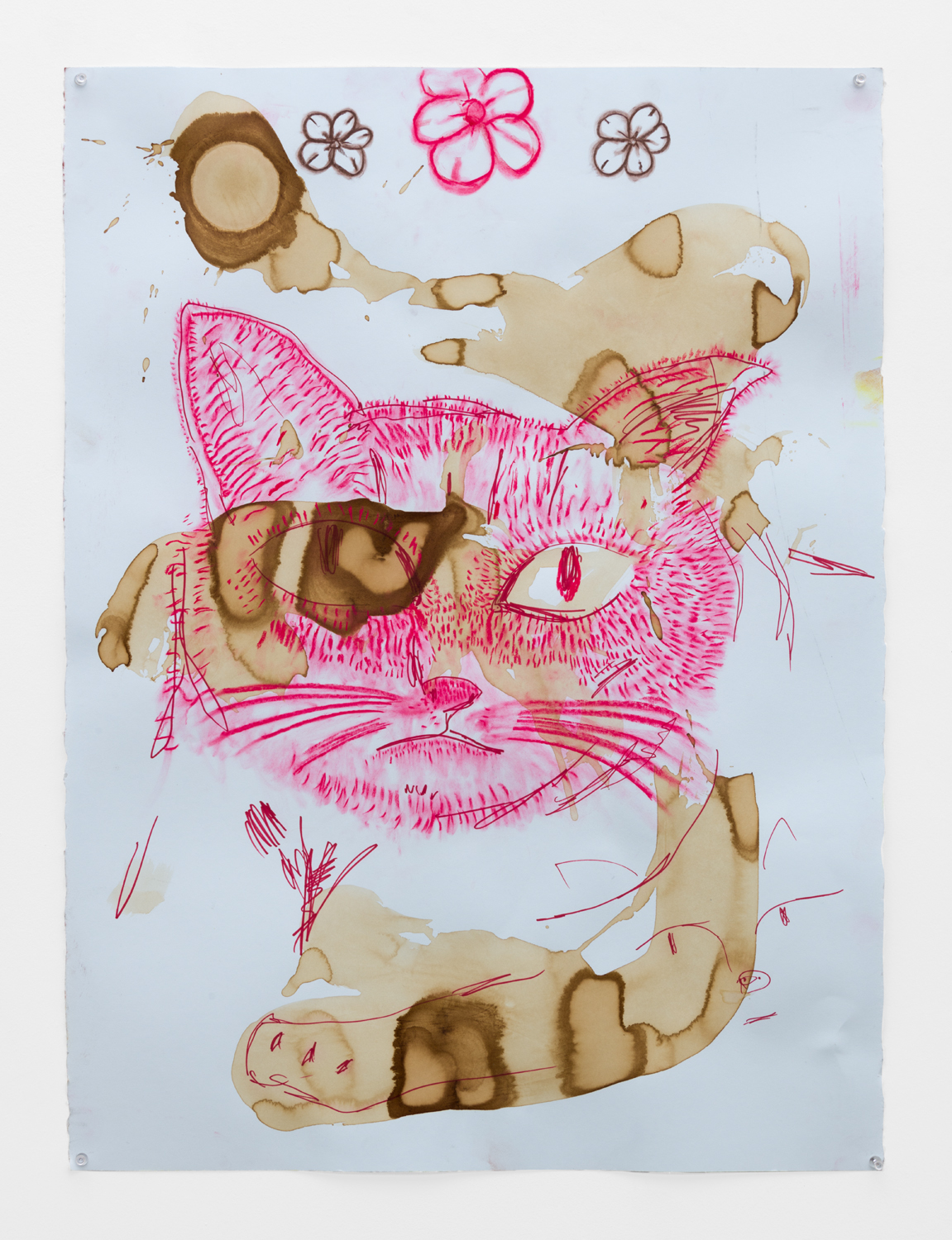 Benjamin Weissman & Ravi Jackson  Untitled, 2017  Pastel, pencil, marker and watercolor on paper  30 x 22.25 inches