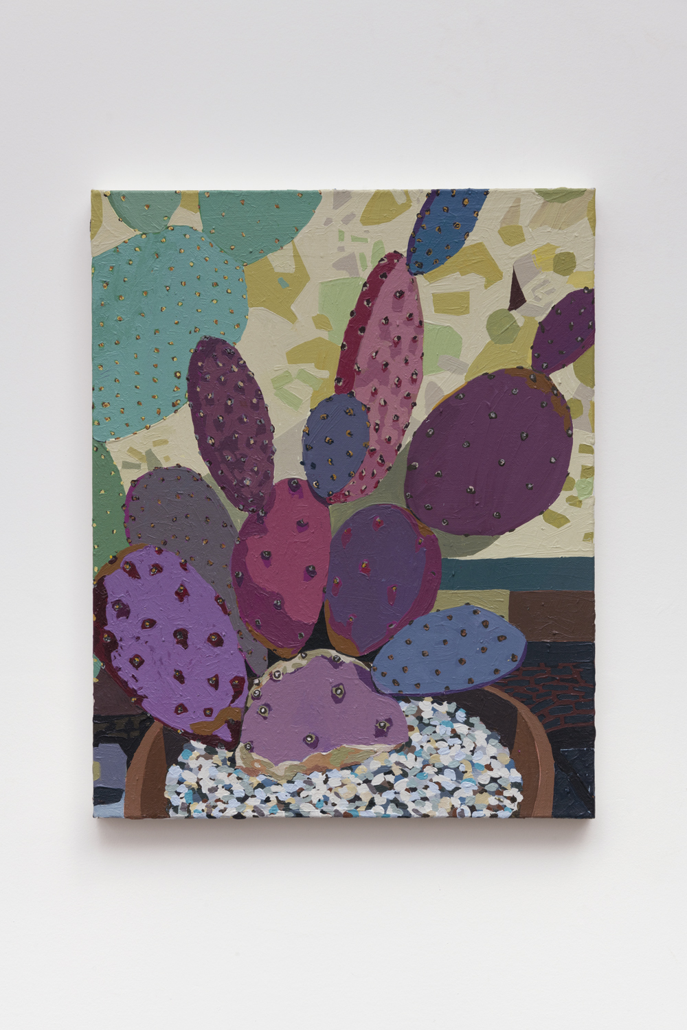 Purple Cactus , 2018  acrylic on canvas  20 x 16 inches