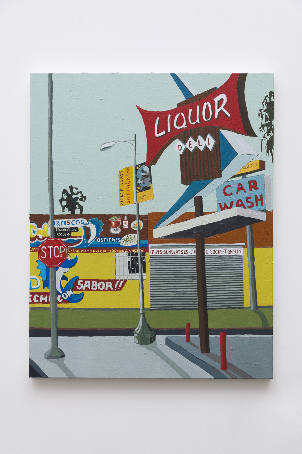 Beverly Boulevard Liquor Store , 2018  acrylic on canvas  30 x 24 inches