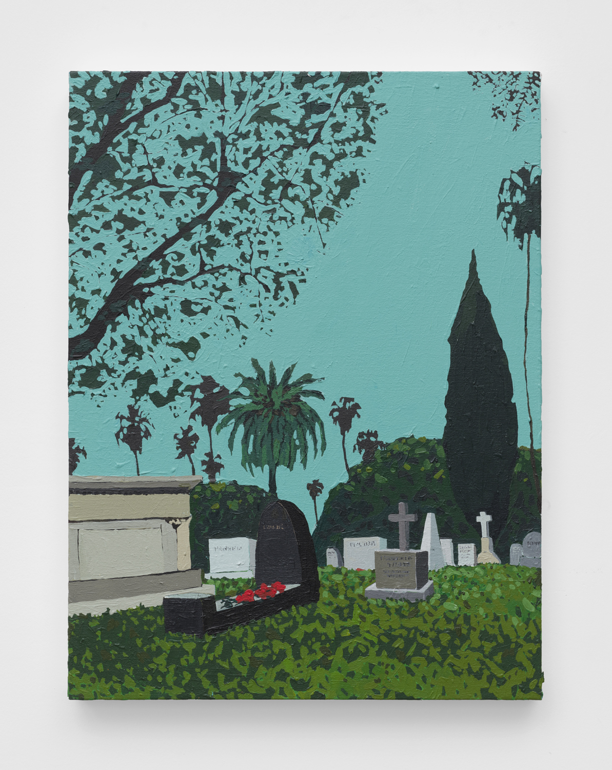 Hollywood Forever   2019  Acrylic on canvas  24 x 18 inches