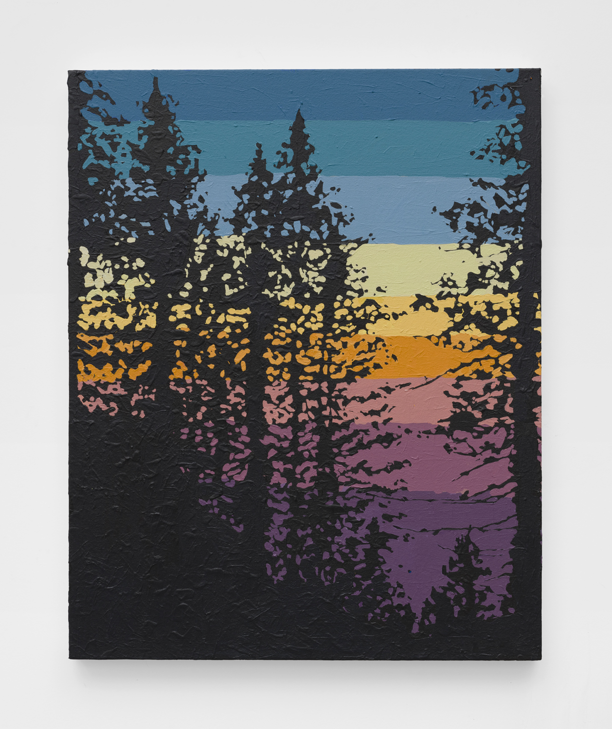 Crestline Sunset   2019  Acrylic on canvas  30 x 24 inches