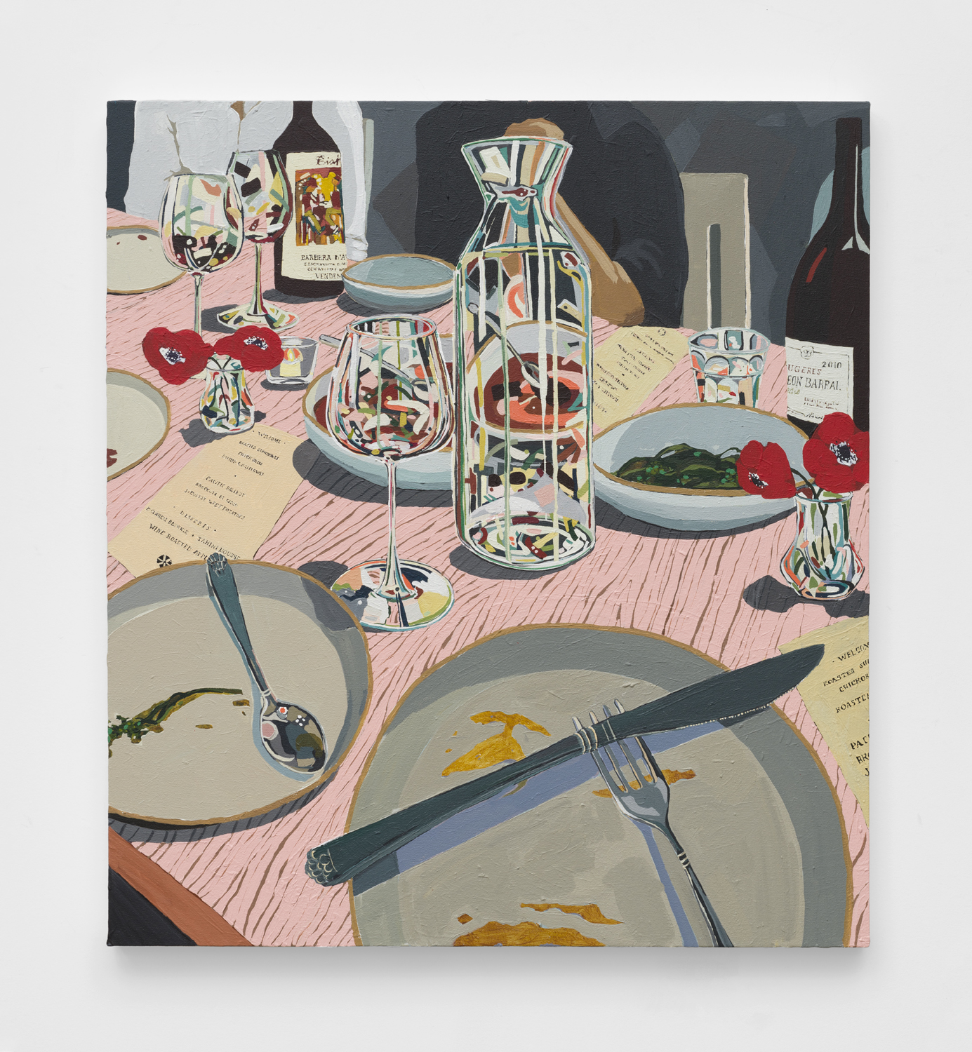 Dinner   2019  Acrylic on canvas  40 x 36 inches
