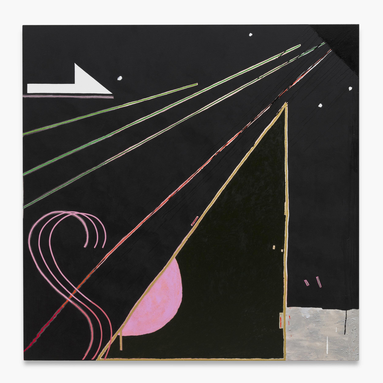 Allison Miller ,   Sister (Capricorn),  2019. Oil, oil stick, acrylic, marble dust, 66 x 66 inches, 167.6 x 167.6 cm