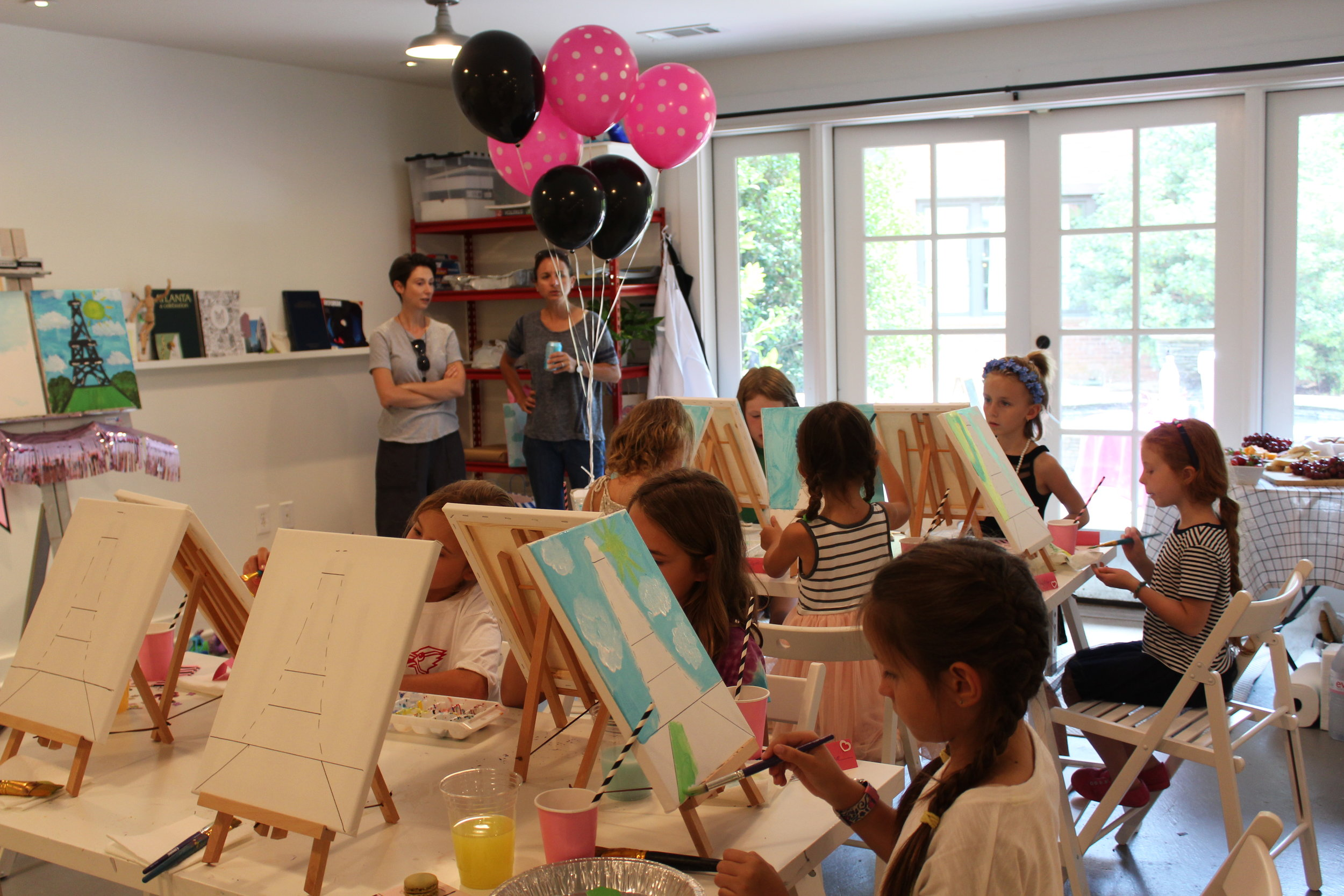 A fun French themed painting birthday.