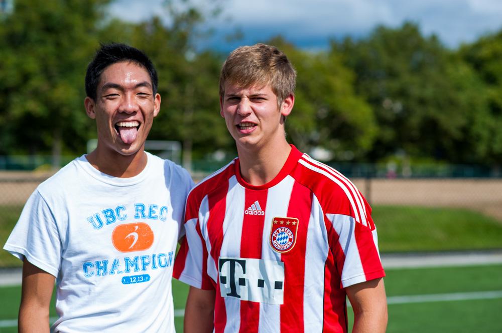 Alumnus Bro Lenox Yim and Active Bro Matthias Kempe