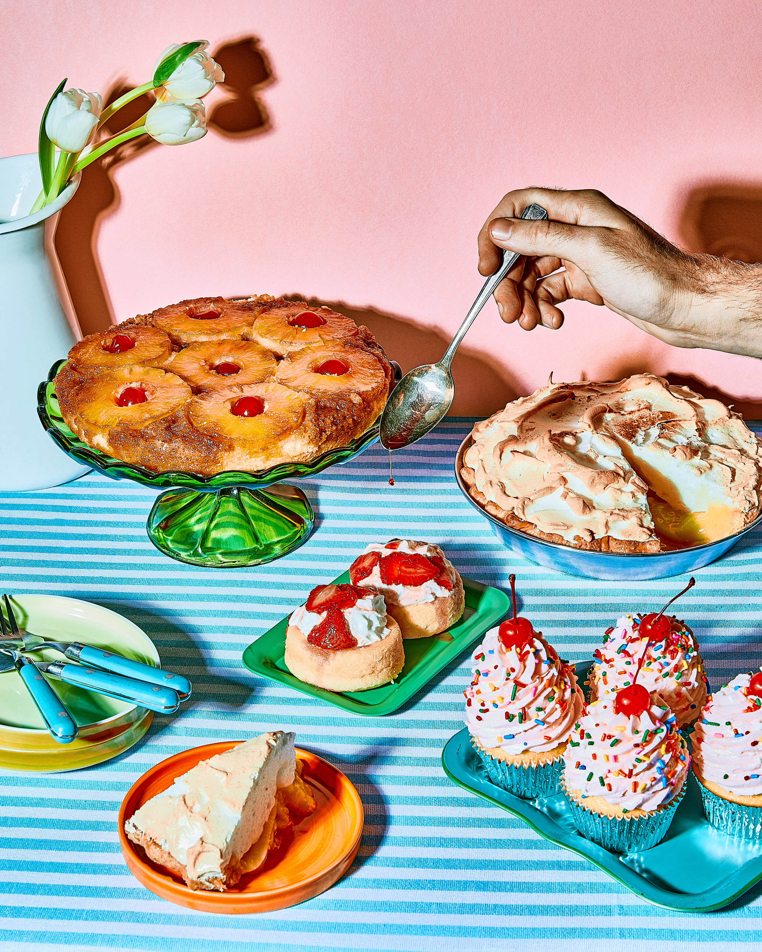 Props and sets by, Andrea Aidekman  Photo by, Tatijana Vasily  Food Styling by, Alexander Roberts
