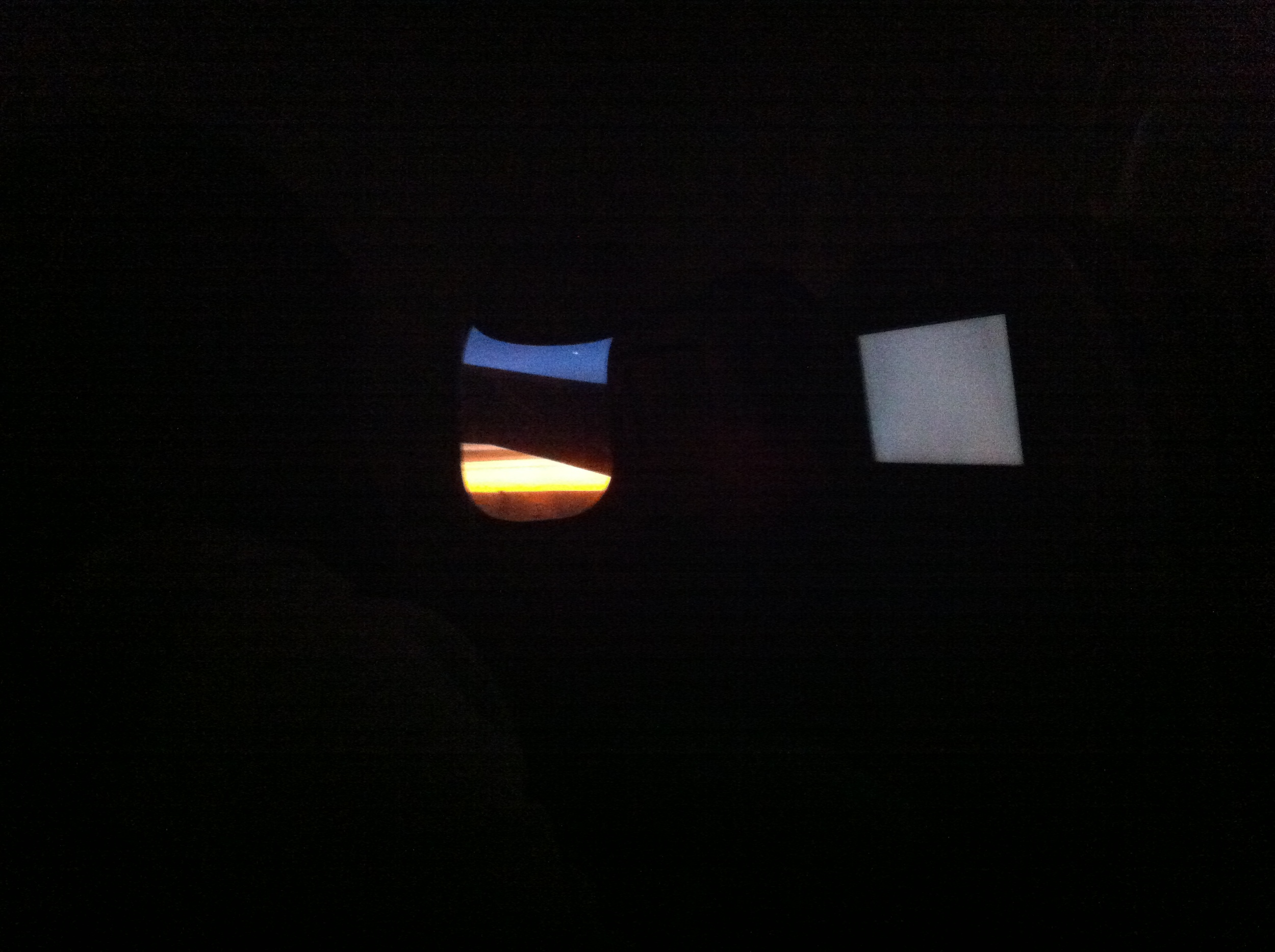 The view of the sunrise from my airline seat.